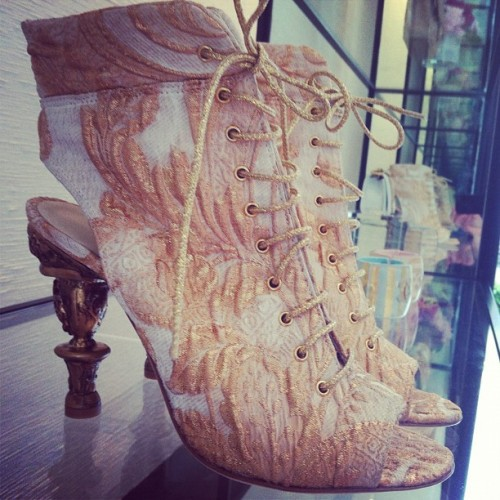 Chanel brocade booties. What's up, Thursday.