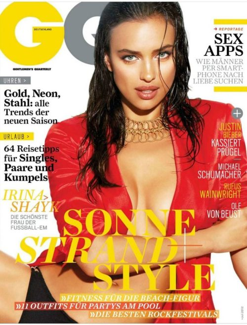 GQ Magazine Germany Photographer Yu Tsai Model Irina Shayk Fashion Stylist Katie Burnett Hair Kayla MiChele Makeup Quinn Murphy