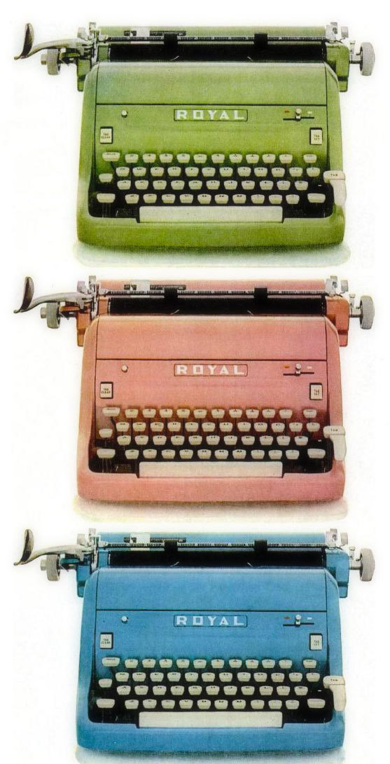 Royal typewriter, 1955.