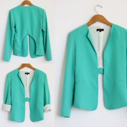 www.mickeysgirl.com #seafoamgreen #openbackblazer #fashion #style #summer #cute #workoutfit #officelook #sexy #girl #shop #online #fashion #turquoise  (Taken with Instagram)