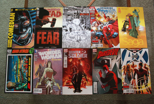 Tweet us a picture of what new comic books you're reading using the hashtag, #GeekRestComic!