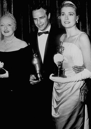 "Bette Davis, Marlon Brando & Grace Kelly in ""Academy Awards: 27th Annual"""