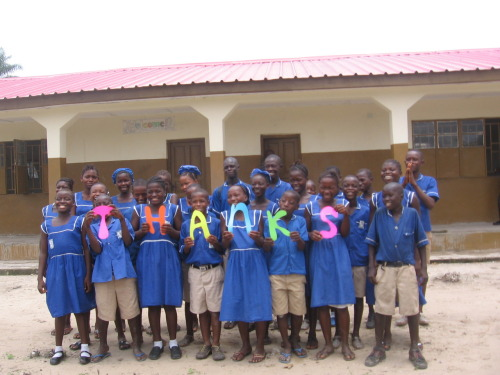 Thankful! Magic Penny School and students. Bompehtoke, Sierra Leone, West Africa