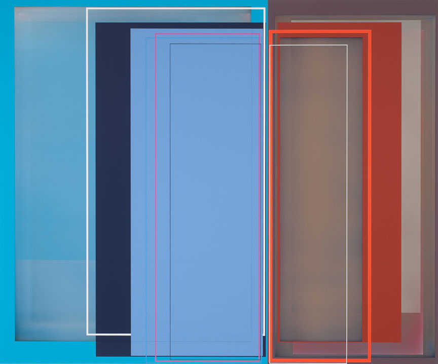 Patrick Wilson-Duet, acrylic on canvas, 49 x 59 inches