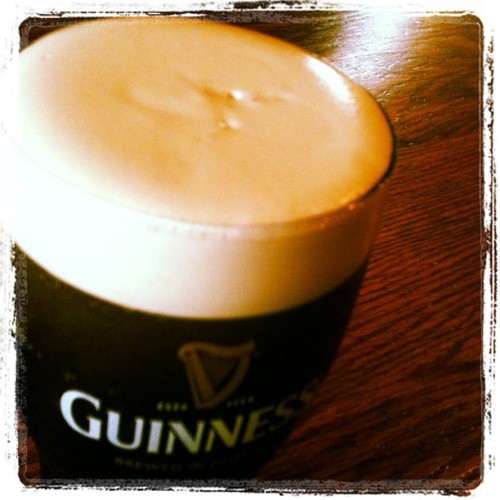 Shamrock Guinness  (Taken with Instagram at Sláinte Irish Pub)