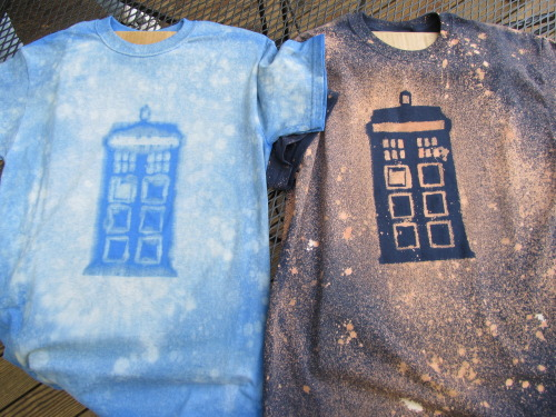 Night & day TARDIS bleach shirts by @sincerelyCJones and @Naterpie  submitted by naterpie