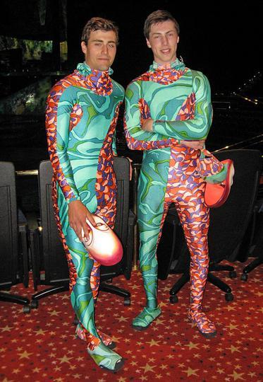 "Jordan Eberle & Ryan Nugent-Hopkins getting all ""Cirque du Soleil""."