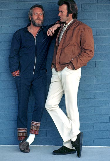 Paul Newman and Clint Eastwood by Terry O'Neill, 1970s. wow. hello hotties