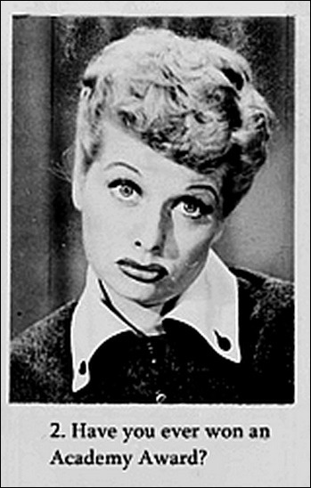 "An ""interview"" with Lucille Ball from the 1950s. Each question is answered like this. Damn she was funny. (via Buzzfeed)"