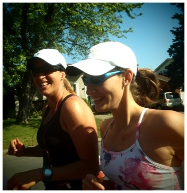 Two lovely ladies who are training for their first marathon.  I've led numerous group training sessions and have met some awesome people. Each experience is different from the last. This time around I'm super impressed with the focus and dedication that the first time marathon trainees are showing. I'm already super excited for them. I can't wait for them to experience race day and go through all the thoughts and emotions that come with the territory. There may be ups and downs before the race, during the race, but afterward it seems that as runners we forget the ugly and the moments of bliss propel us forward to the next big goal. How many of us haven't finished a race and immediately thought about the next one? The scariest thing is to begin something. It's why the start-line is famous for the nerves, the anxiety. But once things get going it's all downhill - as in smooth sailing.  I'm terrified for next week's big race. But it's not the middle that terrifies me. It's what precedes the race, the running. I still can't put my finger on what makes me so mind numbingly nervous. Because once I get going, all I'm doing is enjoying the moment.