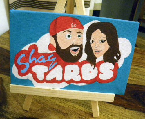 connorsaywhat:  This is a painting I have done for the Shaytards but unfortunately can't give it to them as I'm in England… so yeah.  Good job!