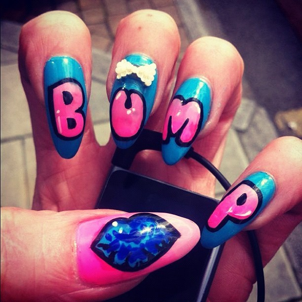 thisisnailporn:  Bumpin my music..got my nails done up 4 @weareBump (Taken with Instagram)