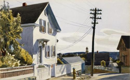 Edward Hopper, Adam's House, 1928.