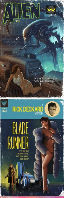 Ridley Scott's two best films as Sci Fi pulp novels.
