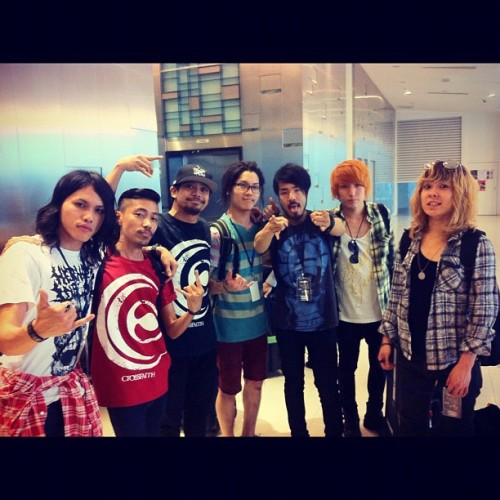 Me @izzatuzaini and @crossfaithjapan !! #crossfaith (Taken with Instagram)