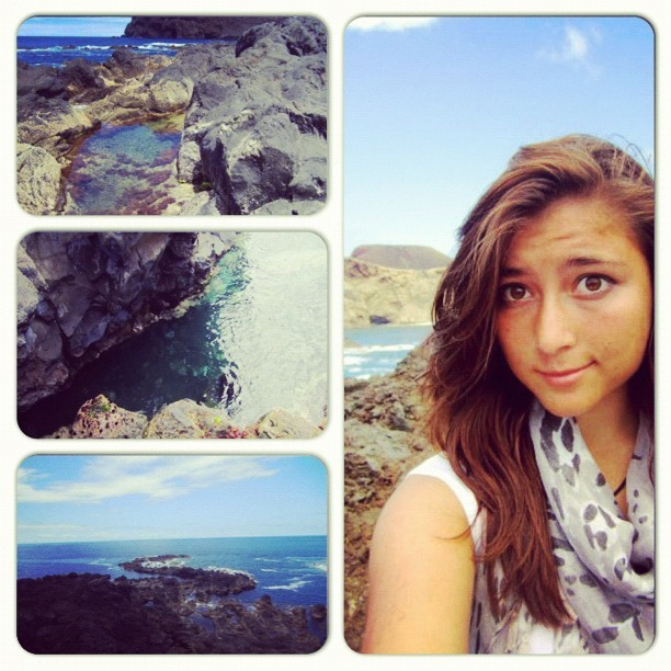 So #gorgeous !! #ocean #volcano #rocks #love #scarf #portugal #azores  (Taken with Instagram)