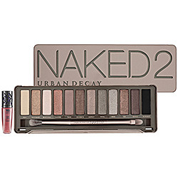 createthislookforless:  The Naked Palette was such a hit yesterday!  So today's product shout out is Urban Decay's Naked2 Palette! Product Shout Out of the Day! Urban Decay Naked2 Palette Buy it from amazon.com What it is:The most anticipated sequel of the decade, Naked2 features a dozen pigment-rich taupe and gray-beige neutrals, plus five exclusive, new shades.What it does:The follow up to the original bestselling Naked palette, this stunning second edition proves that neutral is anything but boring. Showcasing a dozen completely different shades than the first bronze-based collection, it includes a stunning range from pale and deep, to matte and sparkly. You'll achieve a host of new neutral looks, smoky dramatic eyes, and everything in between. The palette also includes a travel-size Lip Junkie Lipgloss in Naked and a double-ended, cruelty-free Good Karma Shadow/Crease Brush (available only in this palette).This set contains:- 12 x 0.05 oz Eyeshadows in Foxy (cream bisque with matte finish), Half Baked (golden-bronze with shimmering finish), Booty Call (shimmering cork), Chopper (copper shimmer with silver microglitter), Tease (creamy pale brown with matte finish), Snake Bite (dark bronze shimmer with metallic base), Suspect (pale golden beige with shimmering finish), Pistol (light gray-brown with shimmering finish), Verve (oyster with shimmering finish), YDK (cool bronze shimmer with metallic base), Busted (deep brown with shimmering finish), Blackout (blackest black with matte finish)- Good Karma Shadow/Crease Brush- 0.11 oz Lip Junkie Lipgloss in Naked (pinky neutral)What else you need to know:Urban Decay's packaging takes on a modern feel in Naked2. With an art-school-inspired tin case and a hinged lid, it's smooth and cool to the touch. Compare Naked2 with first Naked palette—packaged in warm, rich brown velvet with gold foil lettering—and you won't be able to resist owning both. Source: Sephora.com