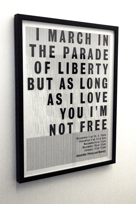 nevver:  But as long as I love you I'm not free
