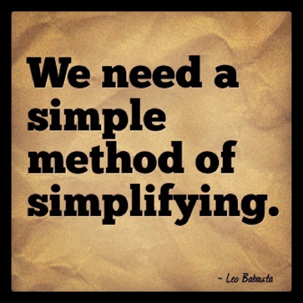 We need a simple method of simplifying [via @designedwalls] #design (Taken with Instagram)