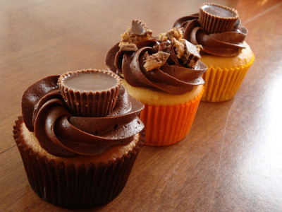 Inside Out Peanut Butter Cup Cupcakes by ginny_j on Flickr.