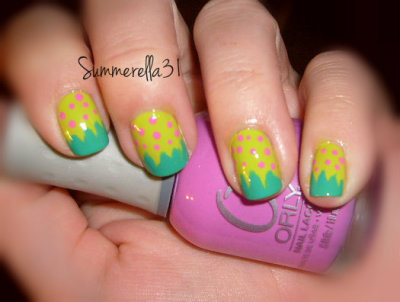 beautylish:  A fun take on strawberry nail art by Summer A.!  BEAUTIFUL.