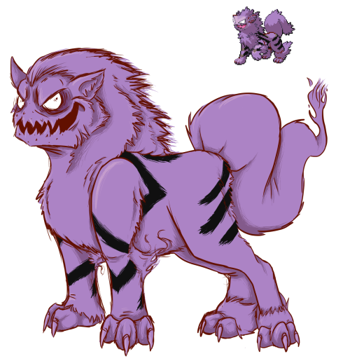 glowingknees:  I tried my hand at drawing one of those pokemon fusions. It's pretty fun.