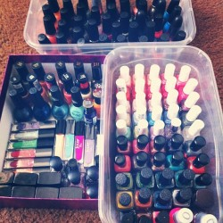 Organizing my #nail #polish #collection! I think I have too much lol. #nailpolish #Essie #ChinaGlaze #OPI #Sephora #ButterLondon #Julep #cosmetics (Taken with Instagram)