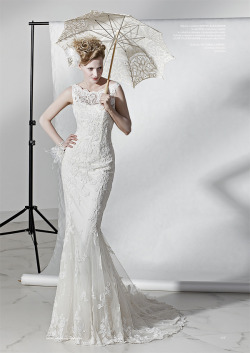 weddinginspirasi:  Justin Alexander's lace mermaid dress featured in an article in Polish Bridal Magazine Panna Mloda October 2011 From the Justin Alexander collection