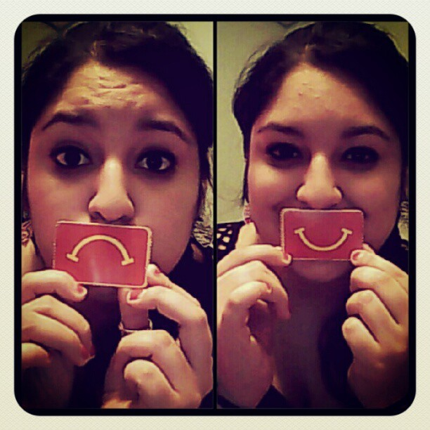 Put those frowns upside down!! (; <3 (Taken with Instagram)