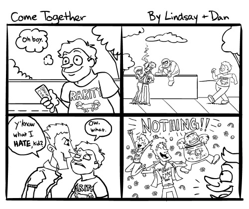 smalllindsay:  More back and forth comics with Dan. Also:   I really did have to look them up. :C I knew Twilight Sparkle, though.