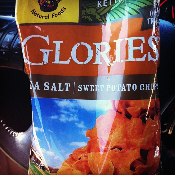 Sweet potato chips are a party in my mouth. (Taken with Instagram)