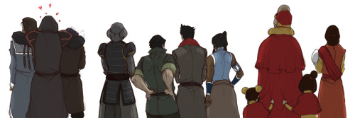 reruko:  .LoK: Their Backs. by ~kisukaite