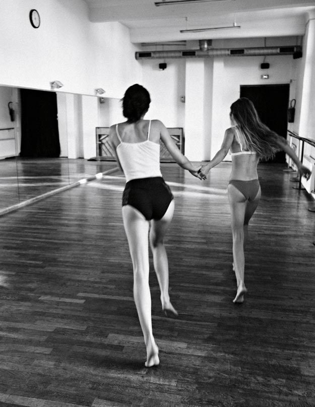 throwing-needles:   Ela Grego & Anastasia Sushchenko by Boris Ovini for On The Field Magazine Fall 2011     the one on the left omfg
