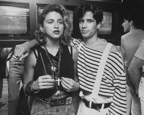denise-puchol:  Madonna and Jellybean Benitez at club Private Eyes mcgough 1984