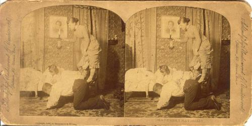 That Pesky Rat Again, comic stereocard, circa 1885.