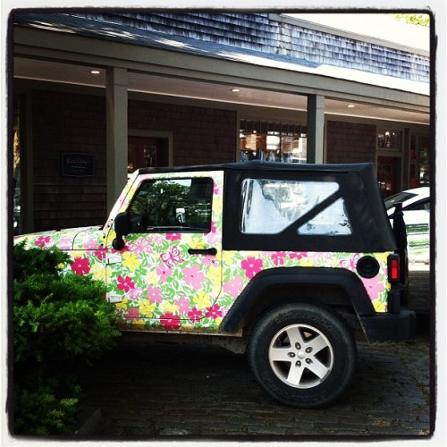 Spotted: The @lillypulitzer @jeep in Nantucket (Taken with Instagram)