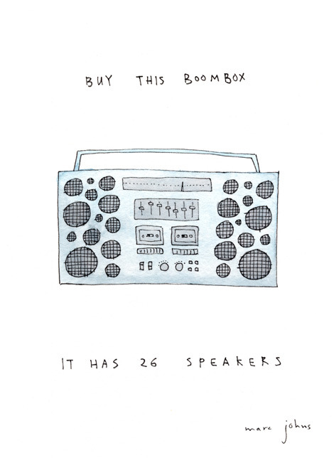 laughingsquid:  Buy This Boombox