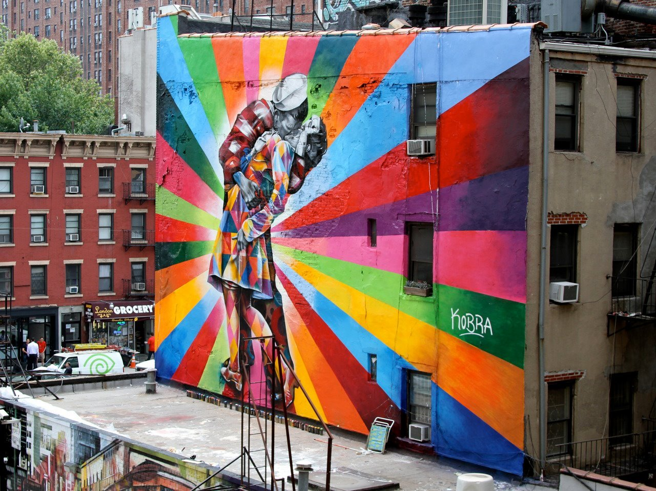 Mural by Eduardo Kobra in NYC