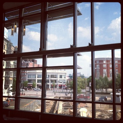 View of Kenmore Square from the second floor. (Taken with Instagram) More on BU Today