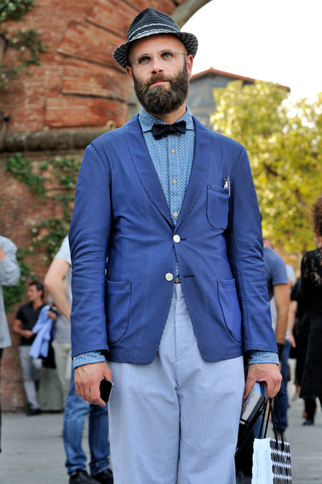Angelo Flaccavento at Pitti Uomo from Monsieur Jerome.