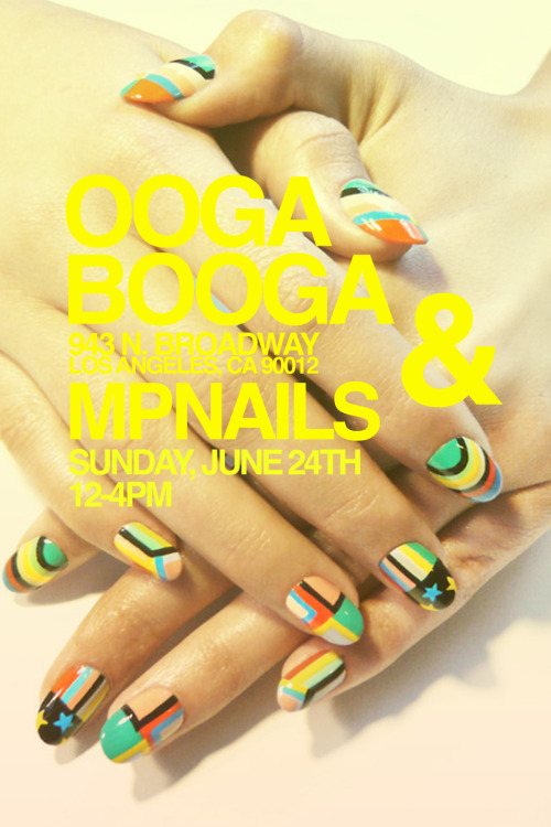 Cute casual nail party @ OOGA BOOGA this saturday! http://www.oogaboogastore.com/