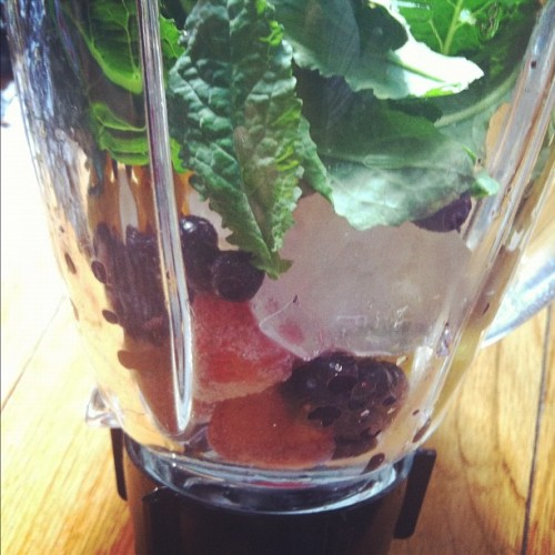 #GreenSmoothies When it's too hot to cook! (Taken with Instagram)