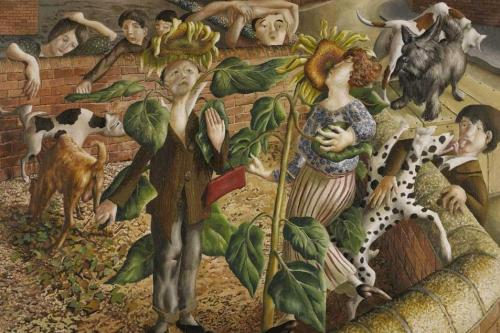 i12bent:  Stanley Spencer: Sunflower and Dog Worship, 1937 Thanks to Robert Gibbons…