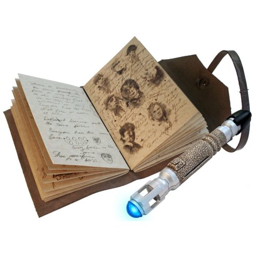 whospam:  Doctor Who The Journal of Impossible Things with Mini Sonic Screwdriver Pen