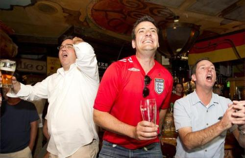 "Euro Cup fever grips Austin's soccer bars Do you have Euro Cup fever? Thanks to the European soccer tournament, bars around Austin have seen lots of business. ""It's not the World Cup for us, but it's huge. We're doing three or four times the normal business,"" said John O'Brien, general manager of Fadó Irish Pub on West 4th Street. Photo: Alberto Martinez/American-Statesman"