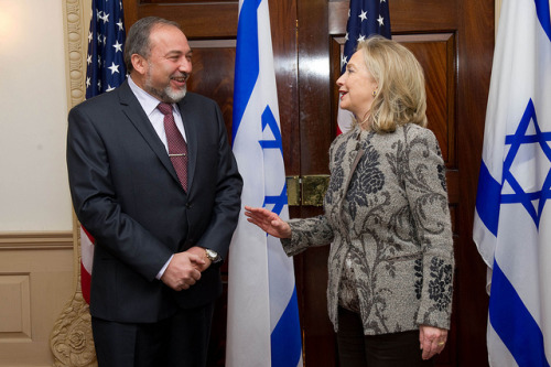 Hillary Clinton meets with Palestinian and Israeli. Is something cooking? | Christian Science Monitor By Howard LaFranchi The dormant Israeli-Palestinian peace process is showing signs of stirring – prompted by renewed Palestinian threats of a unilateral declaration of statehood, Israeli worries over the long-term implications of abandoning the two-state solution, and a recent series of quiet contacts between the two sides. And then there's the desire on the part of the Obama White House – which was scorched by its decision to make Middle East peace a top priority as of Inauguration Day 2009 – to avoid having the Israeli-Palestinian conflict rear up as a time-consuming distraction as it enters the fall presidential campaign. Secretary of State Hillary Rodham Clinton met separately Wednesday with chief Palestinian negotiator Saeb Erekat and Israeli Deputy Prime Minister Shaul Mofaz, the latest signs of a renewed US interest in demonstrating that the peace process is not dead. FULL ARTICLE (Christian Science Monitor) Photo: Shahar Azran (IsraelinUSA)/Flickr