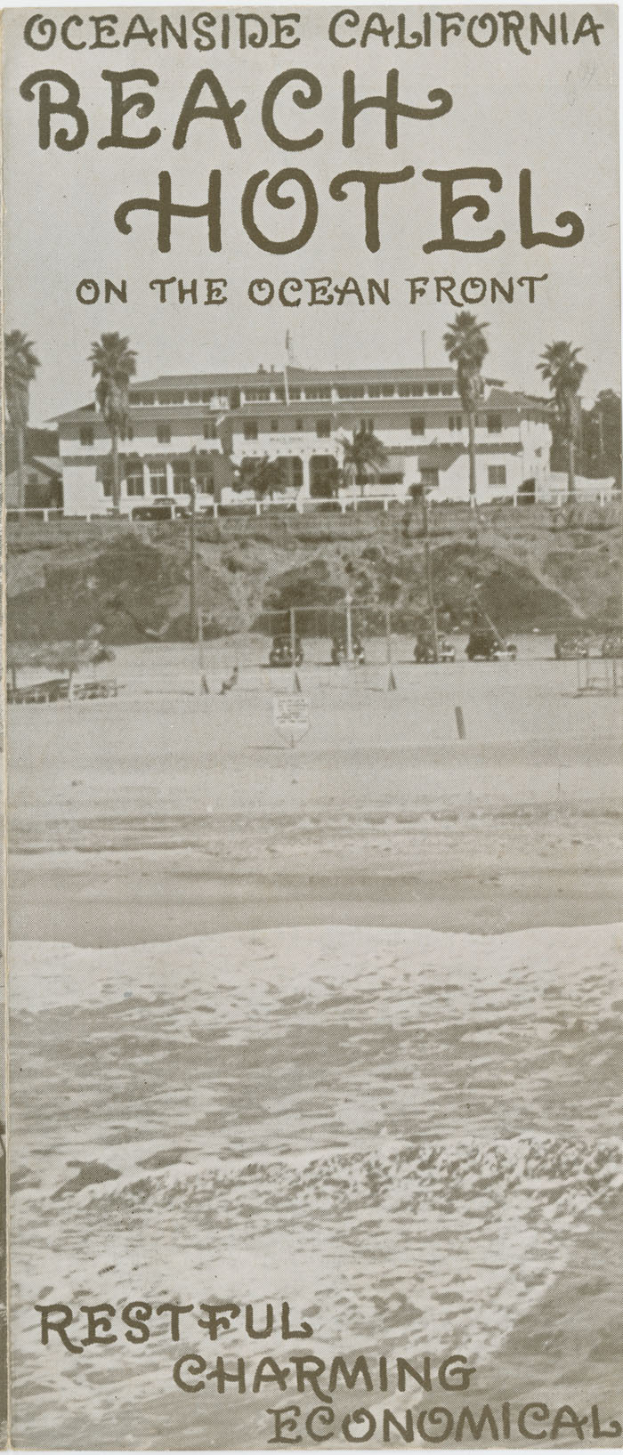 Beach Hotel on the ocean front, 1935