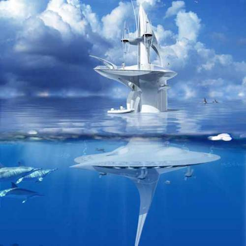 8bitfuture:  SeaOrbiter to begin construction this October. The SeaOrbiter is part submarine, part research vessel and has been in the planning stages for 12 years. Now construction of the US$43 million vessel is scheduled to begin in October, and could be on the seas by late 2013. The vessel will be 58 metres high, with 50% of it underwater, allowing scientists constant access to underwater study.  Designed to drift with ocean currents, the vessel will generate the majority of its power for life-support systems and propulsion to avoid other ships and storms from renewable energy, including solar, wind and wave power, Fuchs says. A side project is underway in conjunction with EADS, the European defense and space systems conglomerate, to develop a biofuel as the ship's main power source.   Science<3