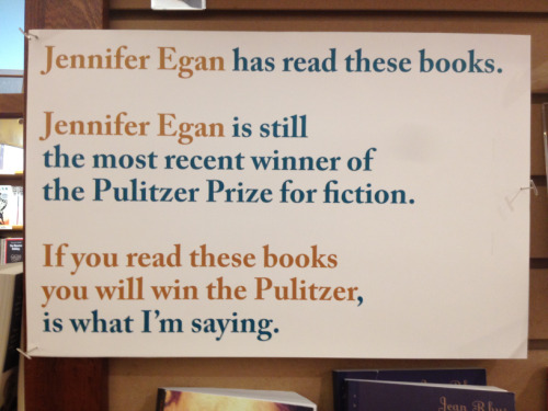 libraryadvocates:  harperbooks:  stephanielacava:  sign at McNally Jackson  Still love this display. Still can't beat that logic.  Syllogisms are among the most solid forms of deductive reasoning, so yeah - it's gotta be true.