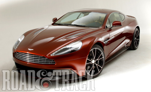 The DBS will be replaced with the resurrection of the 2014 Aston Martin Vanquish that takes styling cues from the One-77 supercar. (Source: Road & Track)